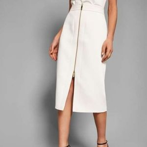 CREPE ZIP PENCIL SKIRT BY TED BAKER